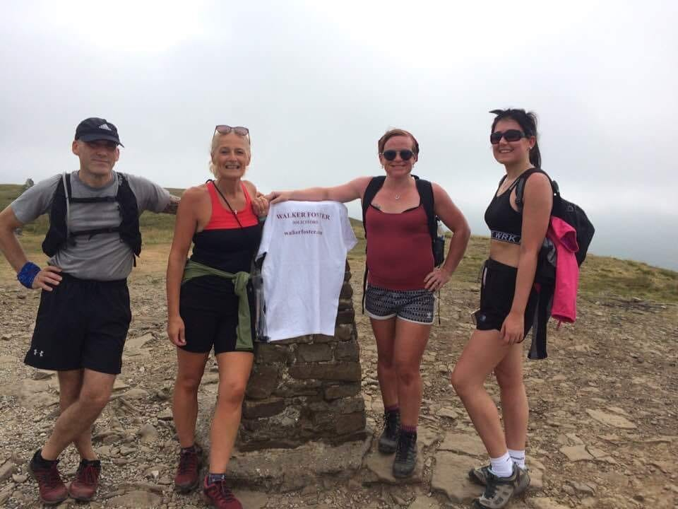 Walker Foster Team doing 3 peaks